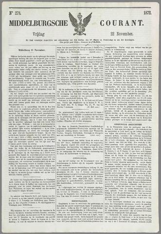 Middelburgsche Courant 1872-11-22