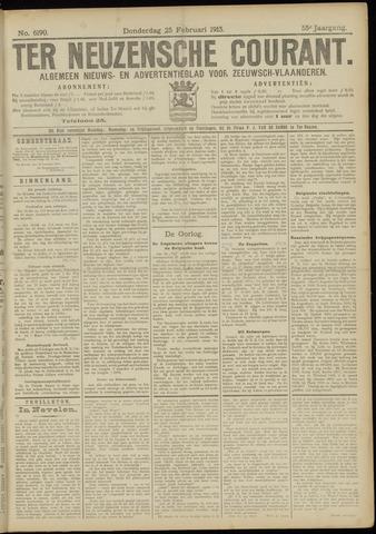 Ter Neuzensche Courant. Algemeen Nieuws- en Advertentieblad voor Zeeuwsch-Vlaanderen / Neuzensche Courant ... (idem) / (Algemeen) nieuws en advertentieblad voor Zeeuwsch-Vlaanderen 1915-02-25