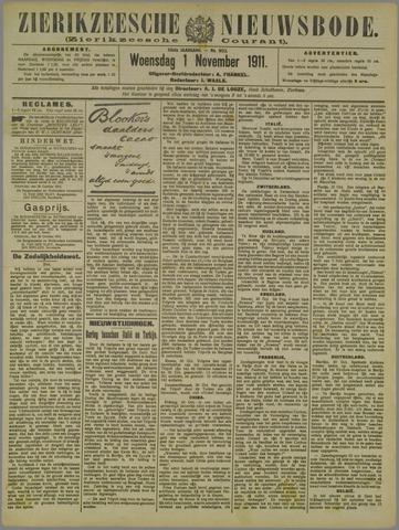 Zierikzeesche Nieuwsbode 1911-11-01