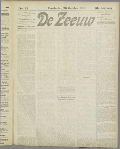 De Zeeuw. Christelijk-historisch nieuwsblad voor Zeeland 1916-10-26