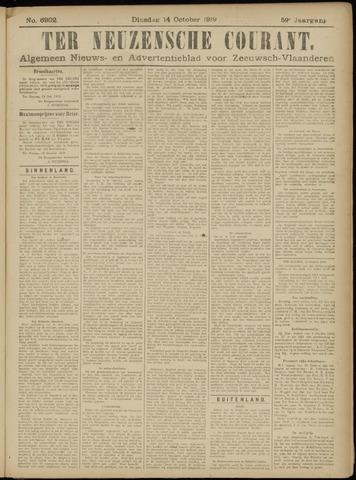 Ter Neuzensche Courant. Algemeen Nieuws- en Advertentieblad voor Zeeuwsch-Vlaanderen / Neuzensche Courant ... (idem) / (Algemeen) nieuws en advertentieblad voor Zeeuwsch-Vlaanderen 1919-10-14