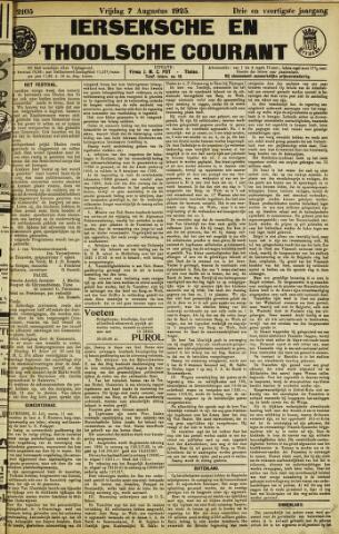Ierseksche en Thoolsche Courant 1925-08-07