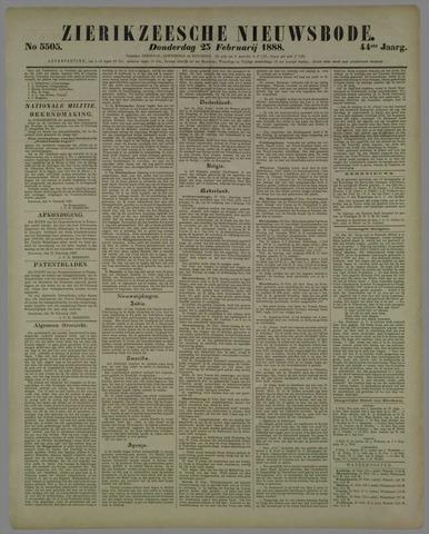 Zierikzeesche Nieuwsbode 1888-02-23