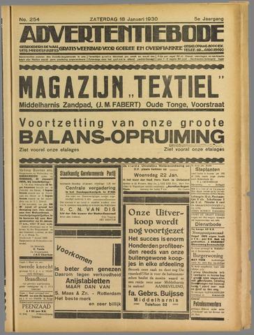 Advertentieblad. Gratis weekblad voor Goeree en Overflakkee 1930-01-18