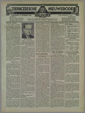 Zierikzeesche Nieuwsbode 1940-10-16