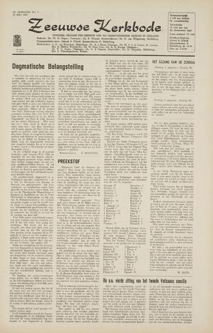 Zeeuwsche kerkbode, weekblad gewijd aan de belangen der gereformeerde kerken/ Zeeuwsch kerkblad 1965-07-30