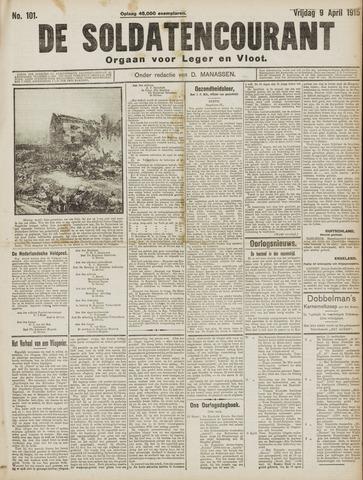 De Soldatencourant. Orgaan voor Leger en Vloot 1915-04-09