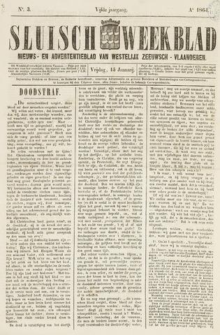 Sluisch Weekblad. Nieuws- en advertentieblad voor Westelijk Zeeuwsch-Vlaanderen 1864-01-15