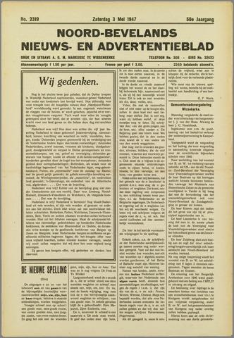 Noord-Bevelands Nieuws- en advertentieblad 1947-05-03