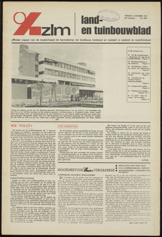 Zeeuwsch landbouwblad ... ZLM land- en tuinbouwblad 1973-10-05