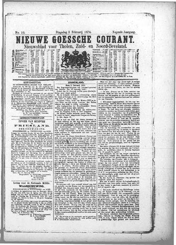 Nieuwe Goessche Courant 1874-02-03