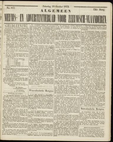 Ter Neuzensche Courant. Algemeen Nieuws- en Advertentieblad voor Zeeuwsch-Vlaanderen / Neuzensche Courant ... (idem) / (Algemeen) nieuws en advertentieblad voor Zeeuwsch-Vlaanderen 1873-10-18