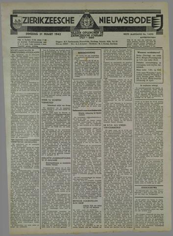 Zierikzeesche Nieuwsbode 1942-03-31