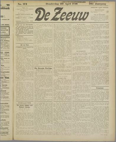 De Zeeuw. Christelijk-historisch nieuwsblad voor Zeeland 1916-04-20