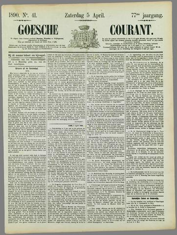 Goessche Courant 1890-04-05