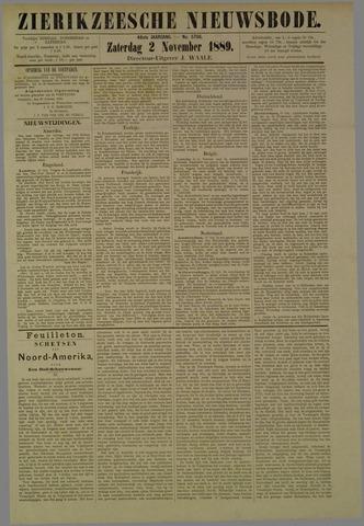 Zierikzeesche Nieuwsbode 1889-11-02