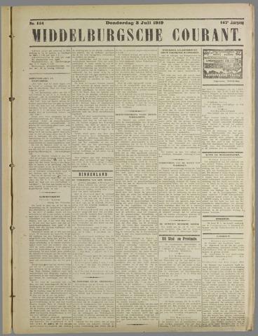 Middelburgsche Courant 1919-07-03