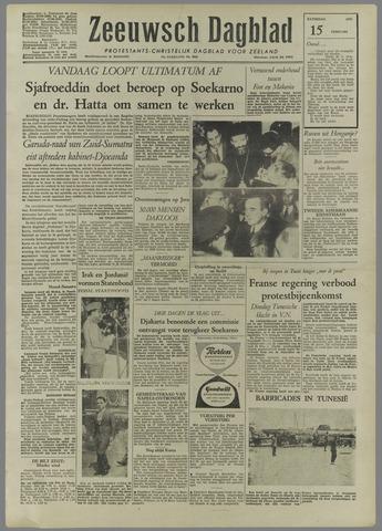 Zeeuwsch Dagblad 1958-02-15
