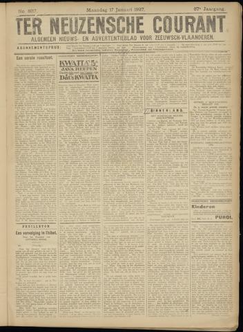 Ter Neuzensche Courant. Algemeen Nieuws- en Advertentieblad voor Zeeuwsch-Vlaanderen / Neuzensche Courant ... (idem) / (Algemeen) nieuws en advertentieblad voor Zeeuwsch-Vlaanderen 1927-01-17