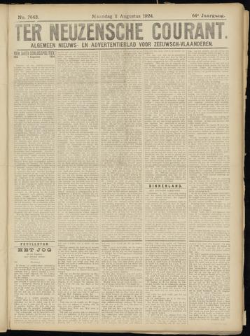 Ter Neuzensche Courant. Algemeen Nieuws- en Advertentieblad voor Zeeuwsch-Vlaanderen / Neuzensche Courant ... (idem) / (Algemeen) nieuws en advertentieblad voor Zeeuwsch-Vlaanderen 1924-08-11