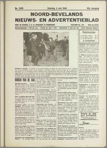 Noord-Bevelands Nieuws- en advertentieblad 1949-06-04