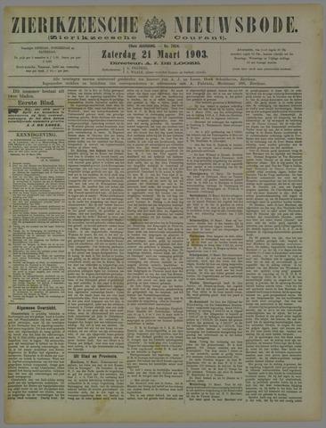 Zierikzeesche Nieuwsbode 1903-03-21