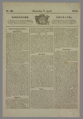 Goessche Courant 1845-04-07