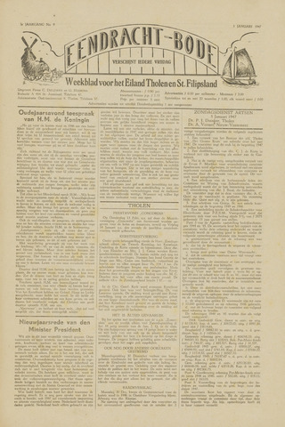 Eendrachtbode (1945-heden)/Mededeelingenblad voor het eiland Tholen (1944/45) 1947