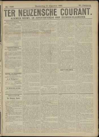 Ter Neuzensche Courant. Algemeen Nieuws- en Advertentieblad voor Zeeuwsch-Vlaanderen / Neuzensche Courant ... (idem) / (Algemeen) nieuws en advertentieblad voor Zeeuwsch-Vlaanderen 1920-08-12