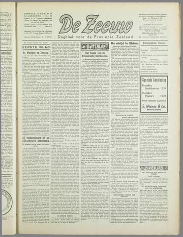 De Zeeuw. Christelijk-historisch nieuwsblad voor Zeeland 1937-11-23