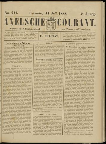 Axelsche Courant 1888-07-11