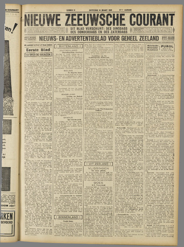 Nieuwe Zeeuwsche Courant 1931-03-14
