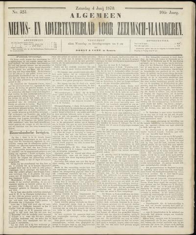 Ter Neuzensche Courant. Algemeen Nieuws- en Advertentieblad voor Zeeuwsch-Vlaanderen / Neuzensche Courant ... (idem) / (Algemeen) nieuws en advertentieblad voor Zeeuwsch-Vlaanderen 1870-06-04