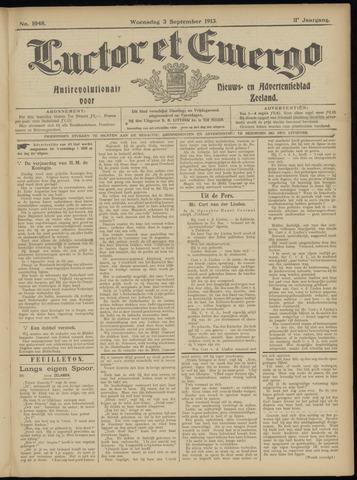 Luctor et Emergo. Antirevolutionair nieuws- en advertentieblad voor Zeeland / Zeeuwsch-Vlaanderen. Orgaan ter verspreiding van de christelijke beginselen in Zeeuwsch-Vlaanderen 1913-09-03