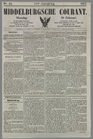 Middelburgsche Courant 1877-02-19