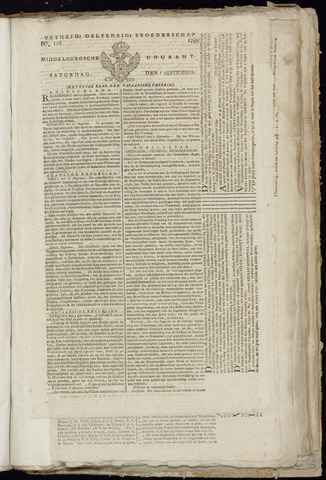 Middelburgsche Courant 1799-09-07