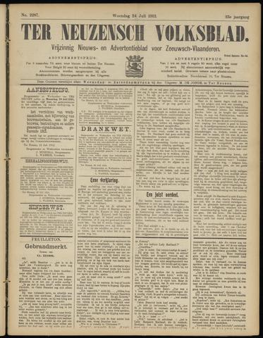 Ter Neuzensch Volksblad. Vrijzinnig nieuws- en advertentieblad voor Zeeuwsch- Vlaanderen / Zeeuwsch Nieuwsblad. Nieuws- en advertentieblad voor Zeeland 1912-07-24
