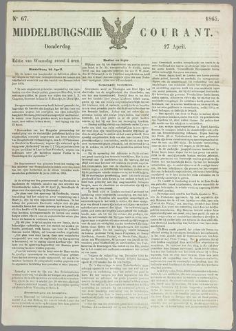 Middelburgsche Courant 1865-04-27