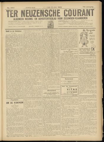 Ter Neuzensche Courant. Algemeen Nieuws- en Advertentieblad voor Zeeuwsch-Vlaanderen / Neuzensche Courant ... (idem) / (Algemeen) nieuws en advertentieblad voor Zeeuwsch-Vlaanderen 1934-07-13