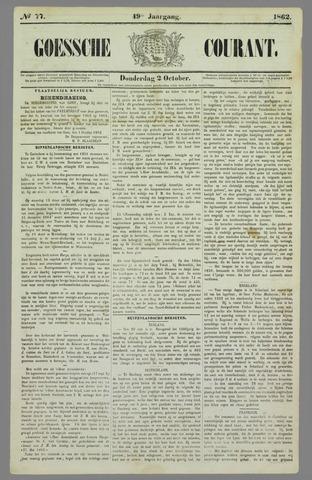 Goessche Courant 1862-10-02