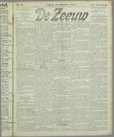 De Zeeuw. Christelijk-historisch nieuwsblad voor Zeeland 1919-10-24