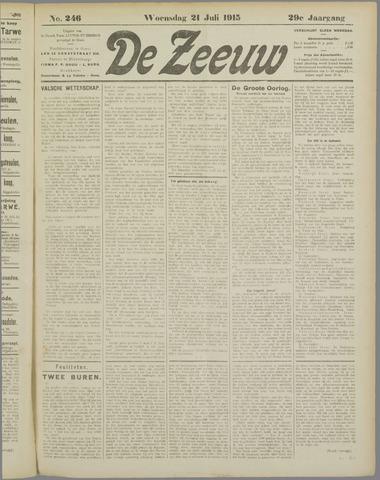 De Zeeuw. Christelijk-historisch nieuwsblad voor Zeeland 1915-07-21