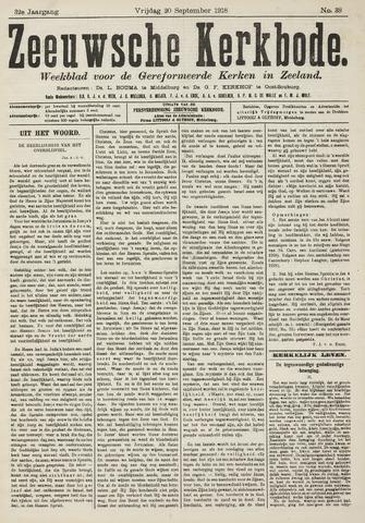 Zeeuwsche kerkbode, weekblad gewijd aan de belangen der gereformeerde kerken/ Zeeuwsch kerkblad 1918-09-20