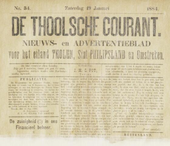 Ierseksche en Thoolsche Courant 1884-01-19