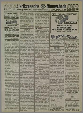 Zierikzeesche Nieuwsbode 1930-11-26