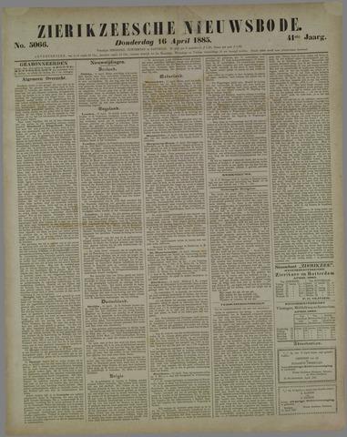 Zierikzeesche Nieuwsbode 1885-04-16