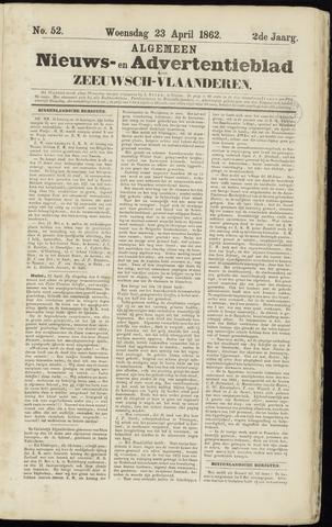 Ter Neuzensche Courant. Algemeen Nieuws- en Advertentieblad voor Zeeuwsch-Vlaanderen / Neuzensche Courant ... (idem) / (Algemeen) nieuws en advertentieblad voor Zeeuwsch-Vlaanderen 1862-04-23