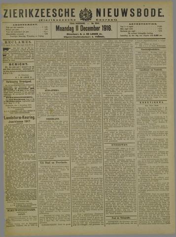 Zierikzeesche Nieuwsbode 1916-12-11
