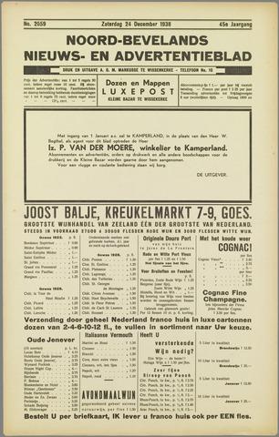 Noord-Bevelands Nieuws- en advertentieblad 1938-12-24