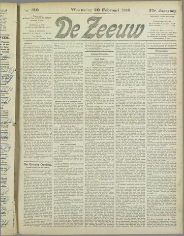 De Zeeuw. Christelijk-historisch nieuwsblad voor Zeeland 1918-02-20